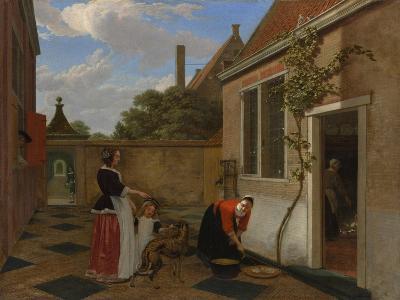Scene in a Courtyard, early 1660s-Ludolf de Jongh-Giclee Print