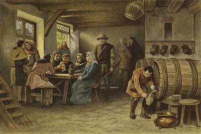 Scene in a Dutch Tavern, 14th Century-Willem II Steelink-Giclee Print