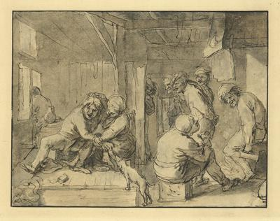 Scene in an Inn-Adriaen Brouwer-Lithograph