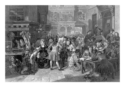 Scene in Change Alley During the South Sea Bubble, 1853-Edward Matthew Ward-Giclee Print