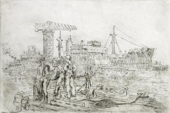 Scene in Shipyard-Thomas C. Skinner-Giclee Print