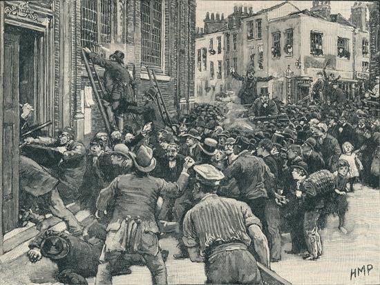 Scene in the Birmingham 'No Popery' riots', 1868 (1906)-Unknown-Giclee Print