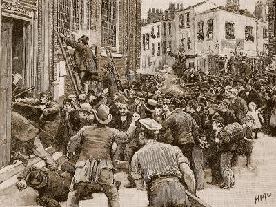 Scene in the Birmingham 'No Popery' Riots--Giclee Print