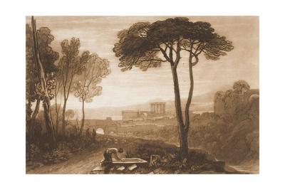 "Scene in the Campagna, from the ""Liber Studiorum,"" Part VIII, No. 38-J^ M^ W^ Turner-Giclee Print"