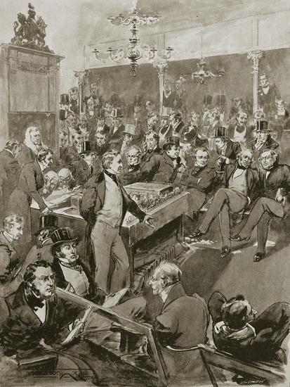 Scene in the House of Commons, London, 22 January 1846 (1901)-Unknown-Giclee Print