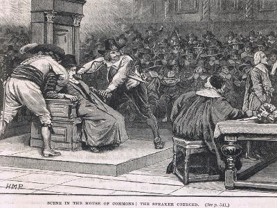 Scene in the House of Commons: the Speaker Coerced 1630-Henry Marriott Paget-Giclee Print