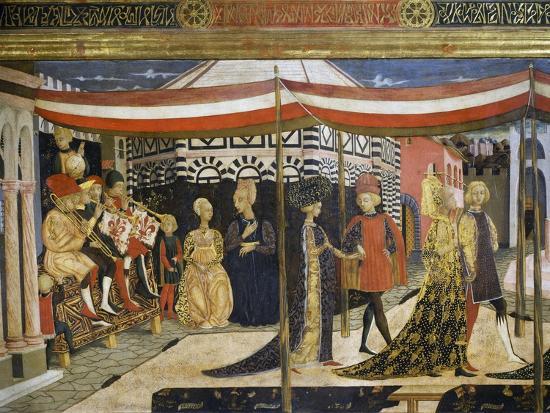 Scene of Dancing-Giovanni Di Ser Giovanni-Giclee Print