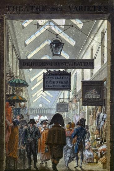 Scene of Everyday Life in Paris, 1810--Giclee Print