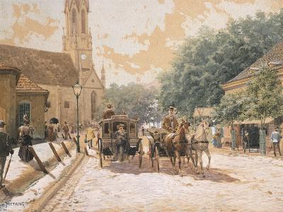 Scene of Everyday Life in Vienna, Austria--Giclee Print
