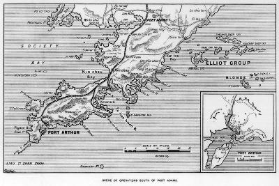 Scene of Operations South of Port Adams, Manchuria, Russo-Japanese War, 1905--Giclee Print