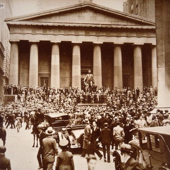 Scene of Panic in Wall Street, New York, 24th October 1929--Photographic Print