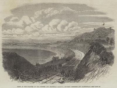 Scene of the Disaster on the Chester and Holyhead Railway, Between Abergele and Llanddulas--Giclee Print