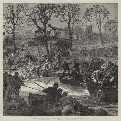 Scene of the Explosion on the Regent's Canal, on Friday Morning, 2 October--Giclee Print