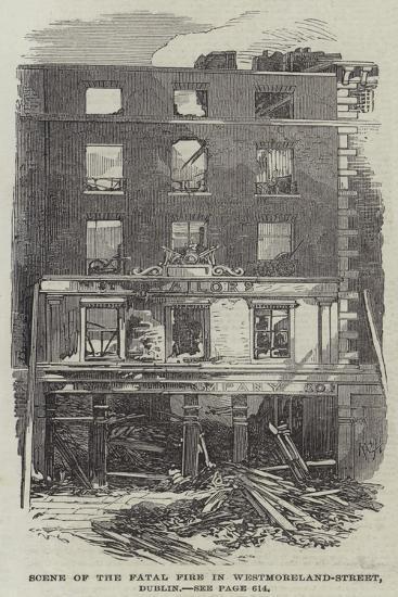 Scene of the Fatal Fire in Westmoreland-Street, Dublin--Giclee Print