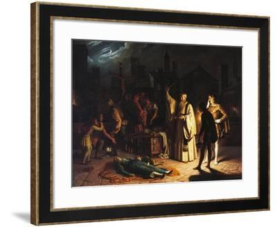 Scene of the Plague in Florence in 1348 Described by Boccaccio-Baldassarre Calamai-Framed Giclee Print
