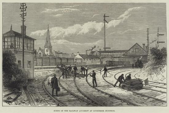 Scene of the Railway Accident at Lockerbie Junction--Giclee Print