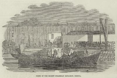 Scene of the Recent Steamboat Explosion, Bristol--Giclee Print