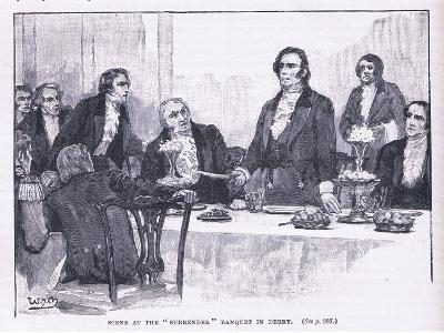 Scene of the Surrender Banquet in Derry Ad 1828--Giclee Print