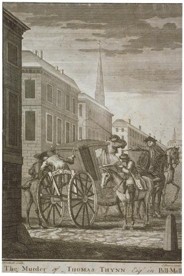 Scene of Thomas Thynne's Murder in Pall Mall, Westminster, London, 1682-James Basire I-Giclee Print