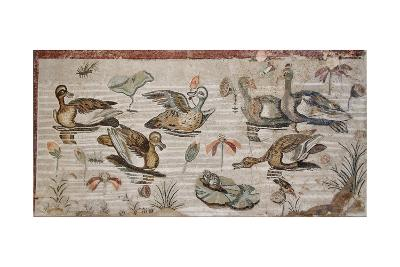 Scene of Waterfowl on the Nile from the House of the Faun, Pompeii, 2nd Century BC--Giclee Print