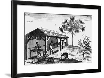 Scene on an American Tobacco Plantation, 1725--Framed Giclee Print