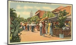 Scene on Olvera Street, Los Angeles, California
