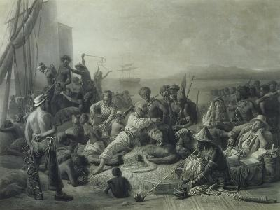 Scene on the Coast of Africa, Engraved by Wagstaff, London, 1844-Francois Auguste Biard-Giclee Print