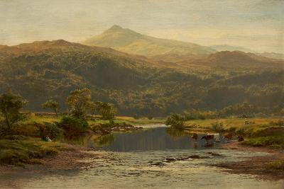 Scene on the Llugwy with Moel Siabod in the Distance, 1870-Benjamin Williams Leader-Giclee Print