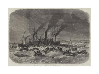Scene on the River Thames During the Gale on Sunday, 19 March-Edwin Weedon-Giclee Print