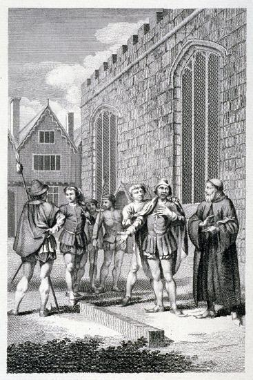 Scene Outside the Tower of London, Depicting the Beheading of Lord Hastings, 1483--Giclee Print