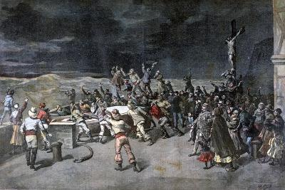 Scene Seven, the Rescue, from the Play Maitre D'Armes, Port of Saint-Martin, 1892-Henri Meyer-Giclee Print