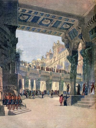 Scene Two, Act Two, from the Opera Le Mage, by Jules Massenet, 1891--Giclee Print