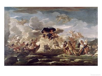 Scene with the Rape of Proserpine-Luca Giordano-Giclee Print