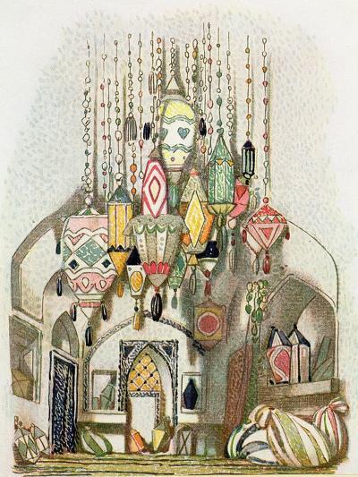 Scenery Design from Aladdin, c.1916-Leon Bakst-Giclee Print