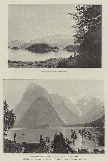 Scenery of Western Otago, in the Middle Island of New Zealand--Giclee Print