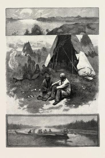 Scenes Along the Nelson River, Canada, Nineteenth Century--Giclee Print