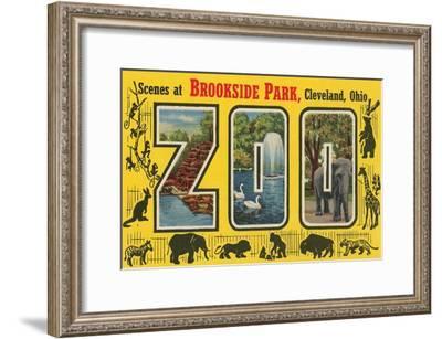 Scenes at Brookside Park Zoo, Cleveland, Ohio--Framed Art Print