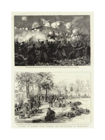 Scenes at Buenos Ayres During the Revolution in Argentina--Giclee Print