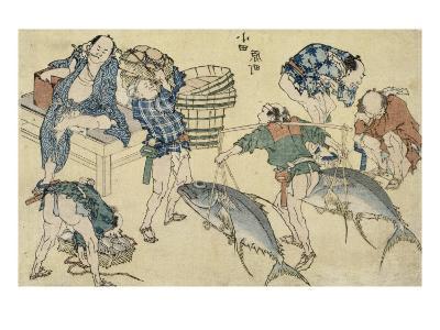 Scènes de rue nouvellement publiées-Katsushika Hokusai-Giclee Print