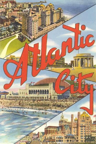 Scenes from Atlantic City--Art Print