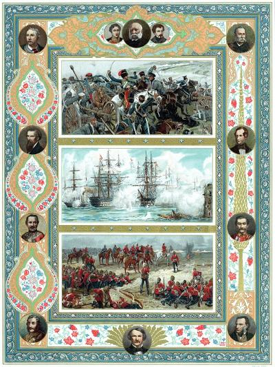Scenes from British Military Engagements, C1887--Giclee Print