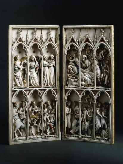 Scenes from Childhood of Christ, Diptych, Ca 1330--Giclee Print