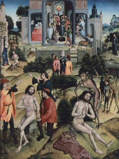 Scenes from Life of Job, Attributed to Master of Legend of Santa Barbara--Giclee Print