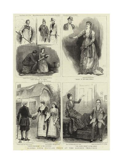Scenes from Popular Plays at the London Theatres--Giclee Print