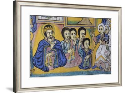 Scenes from Sacred Books, Paintings in Ura Kidane Meret Monastery--Framed Giclee Print