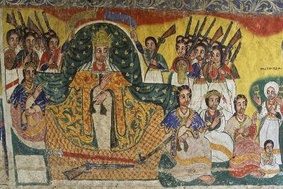 Scenes from Sacred Books, Paintings in Ura Kidane Meret Monastery--Giclee Print