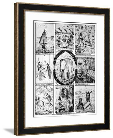 Scenes from the California Gold Rush, 1849-Cooke & Le Count-Framed Giclee Print