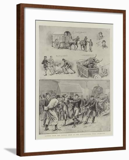 Scenes from the Cattle Show at the Agricultural Hall, Islington-S.t. Dadd-Framed Giclee Print