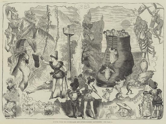 Scenes from the Drury-Lane and Covent-Garden Pantomimes-George Cruikshank-Giclee Print