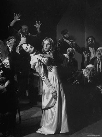 Scenes from the Dybbuk, a Production by the Habimah Players of Israel-Nina Leen-Premium Photographic Print